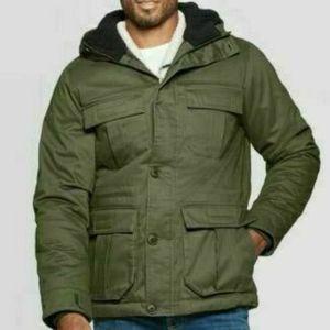 Goodfellow & Co Men's Hooded Anorak Coat Olive New